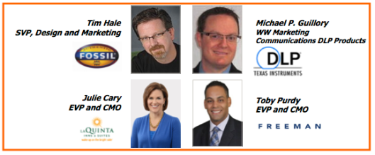 This is a photo from the flyer for the DFW AMA CMO panel event